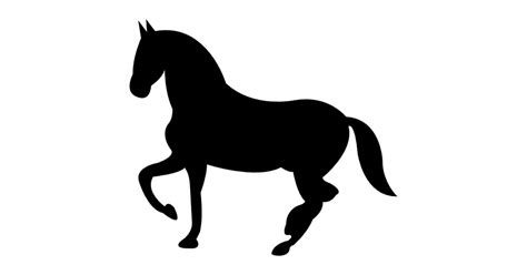 Dancing black horse shape of side view - Free animals icons